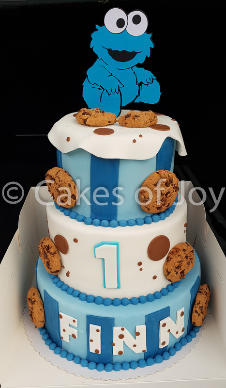 Cookie monster taart koekiemonster taart cookiemonstert taart